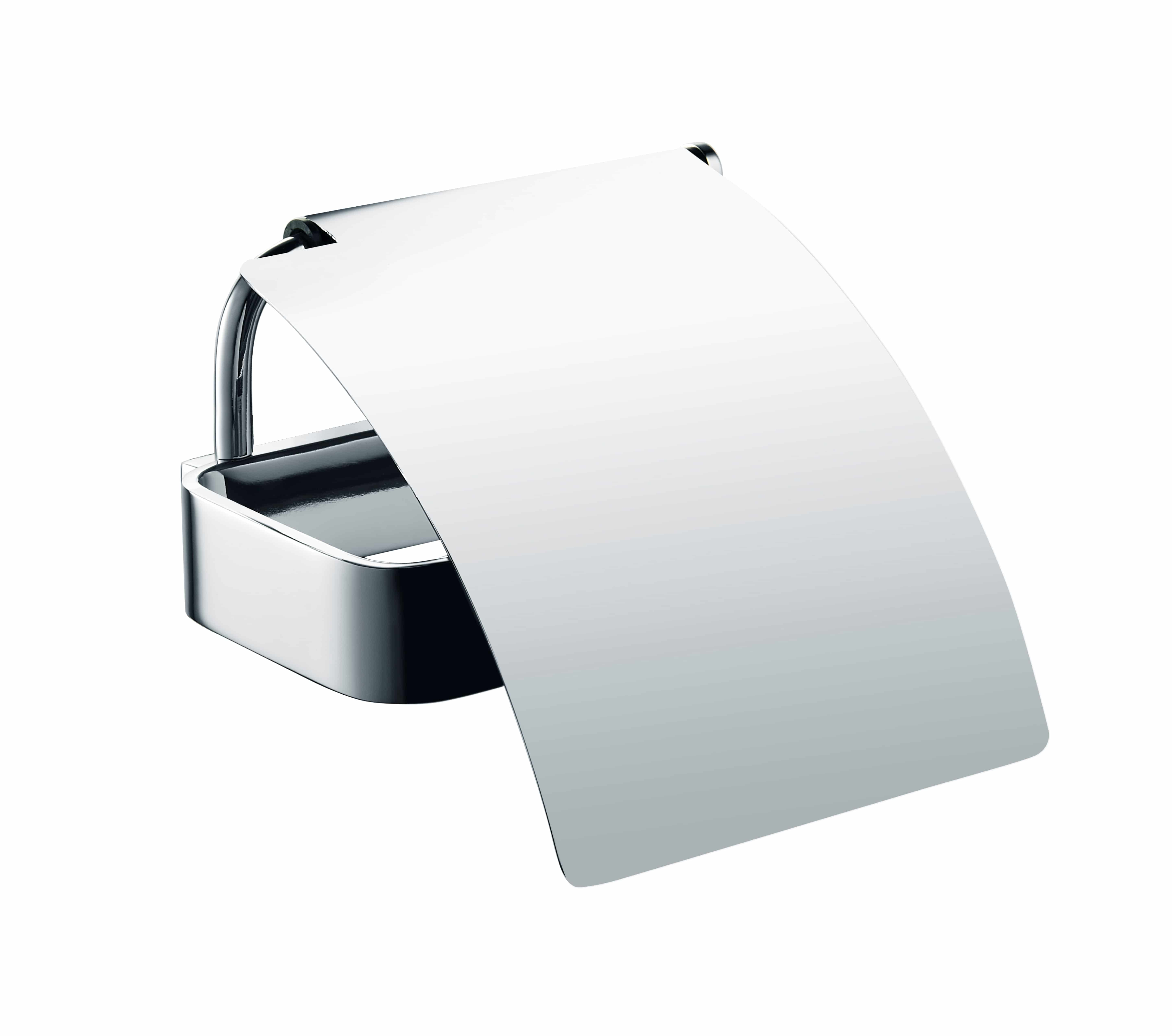 Luzzo® Piazzo Messing Toiletrolhouder met klep - wc rolhouder - chroom
