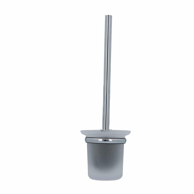 4bathroomz® Oslo Glazen Toiletborstel met wand houder - chroom
