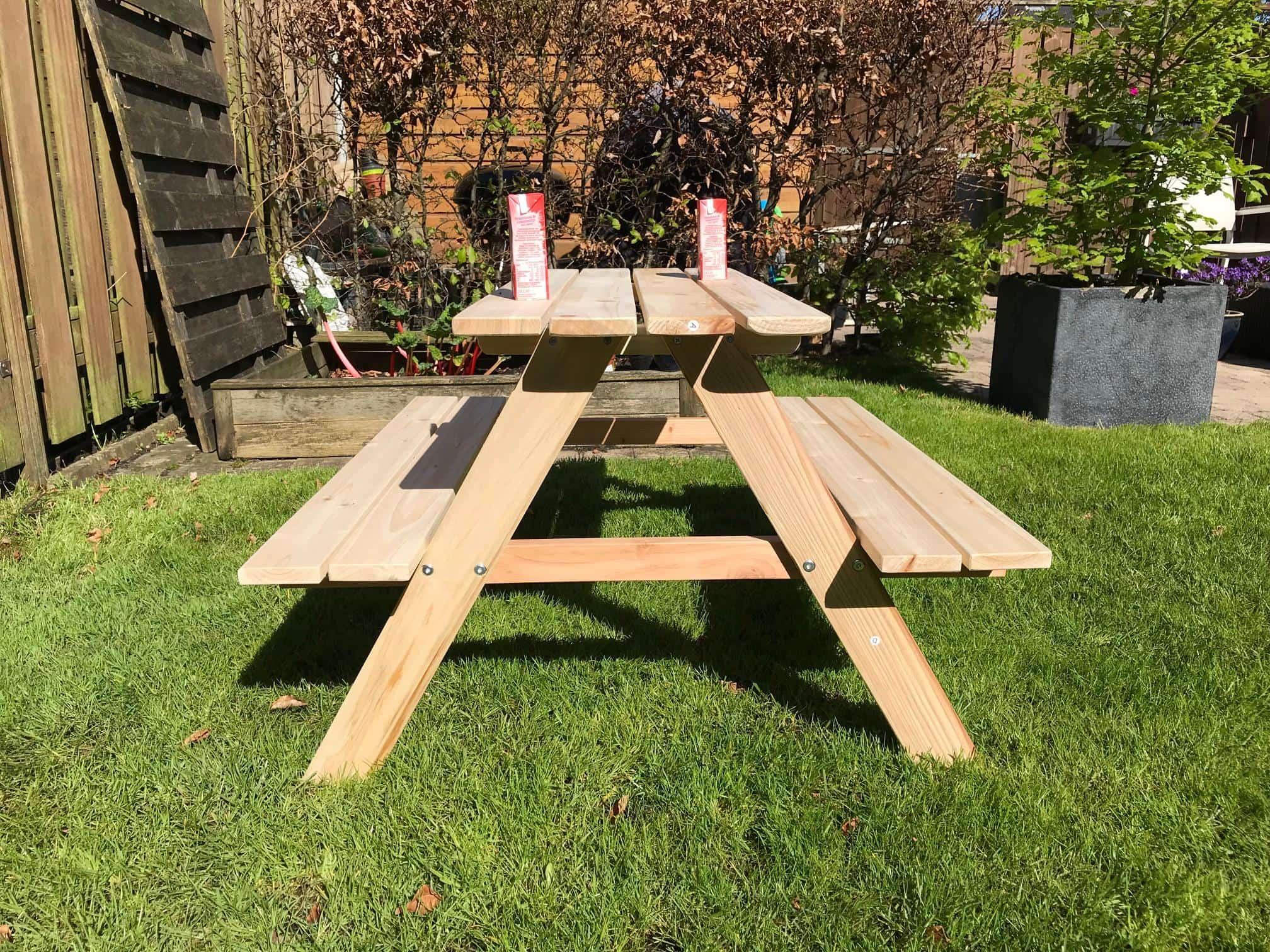 4goodz Houten Kinder Picknicktafel - 89 x 80 x 50cm