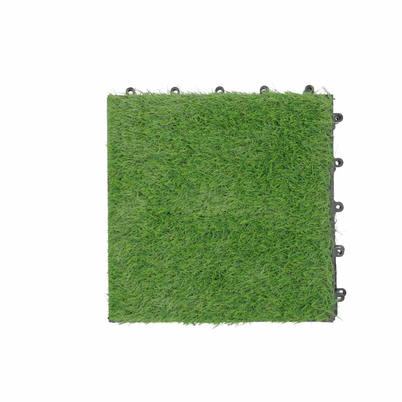 4Goodz Kunstgras Terrastegels koppelbaar 30X30CM - 9 stuks