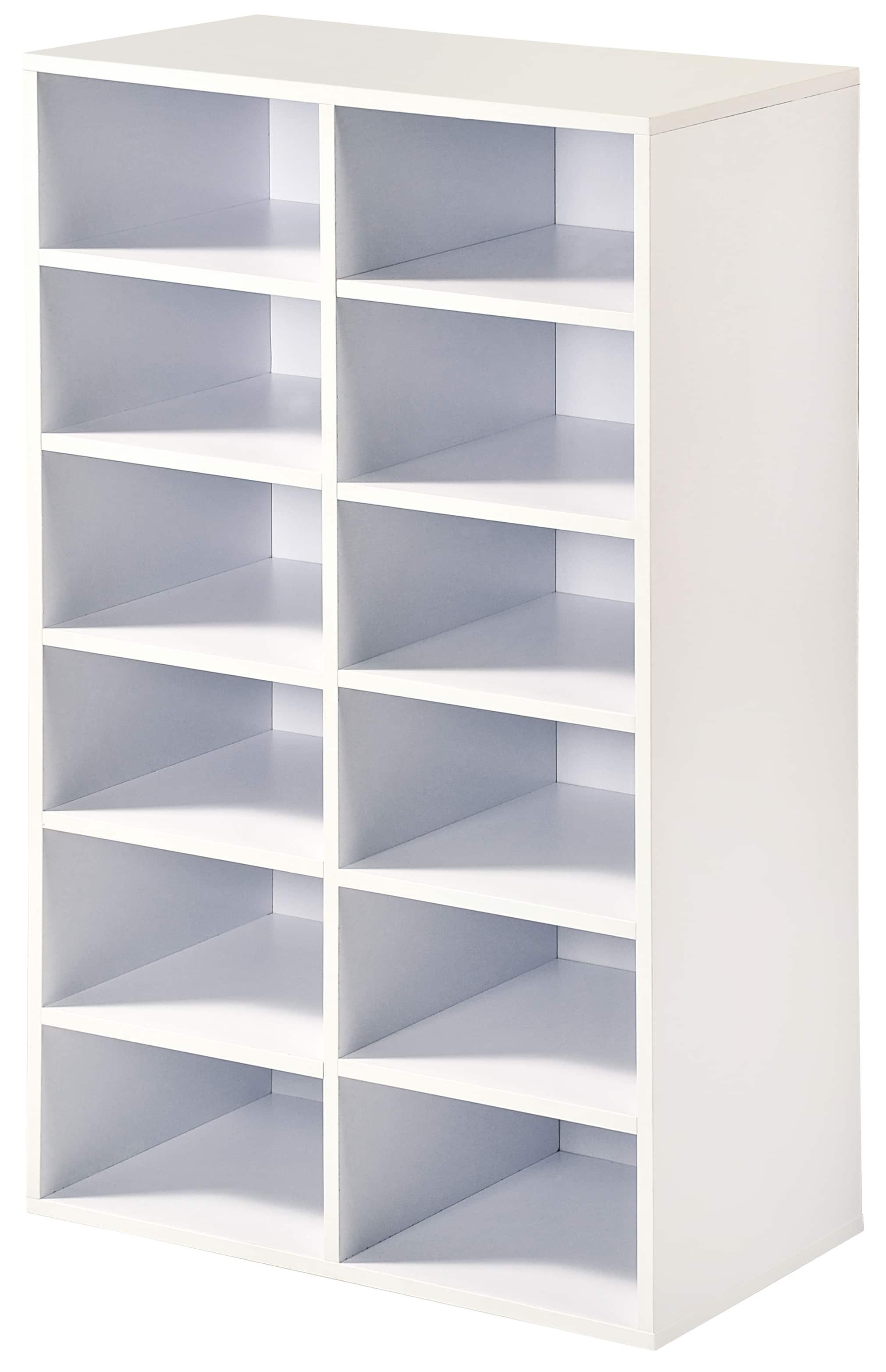 Ruime Schoenenkast 51,5x29,5x87 cm - 12 vaks - Wit