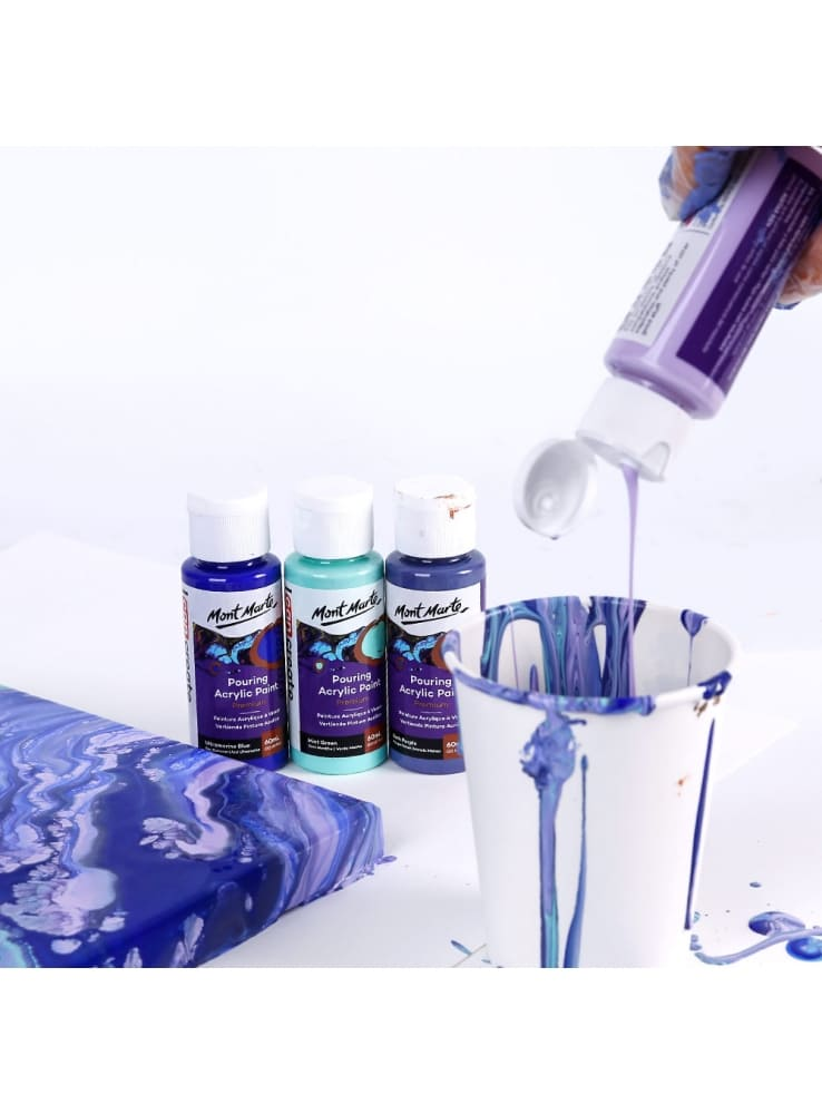 Mont Marte® Pouring Paint Ethereal - 4 potjes pouringverf a 60 ml
