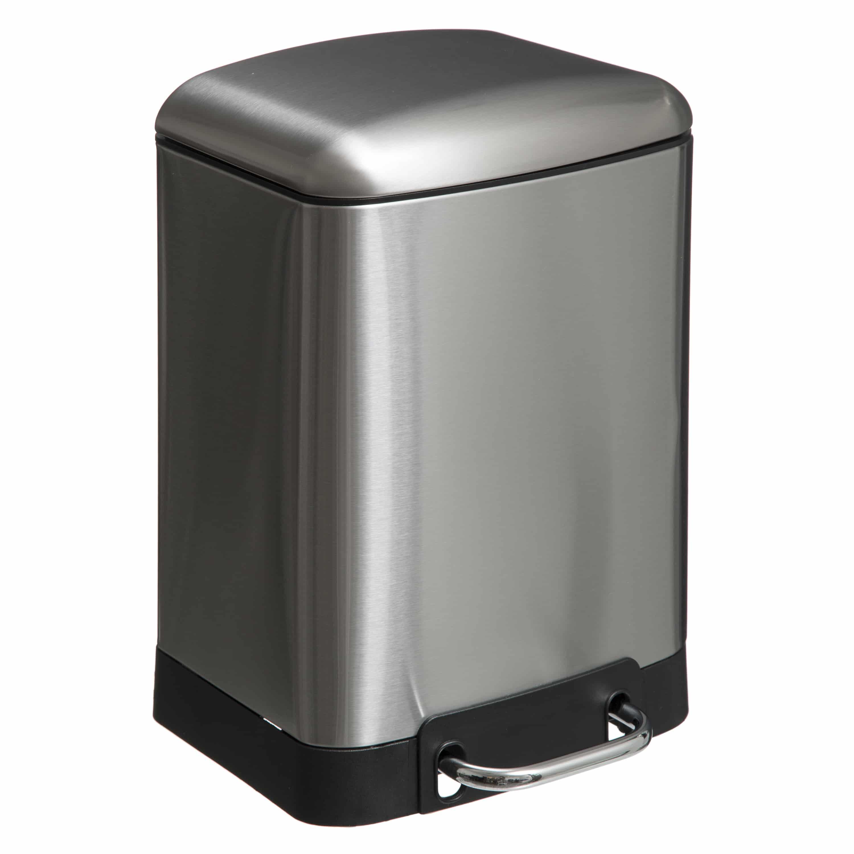4Goodz Pedaalemmer 6 liter met uitneembare binnen emmer - RVS
