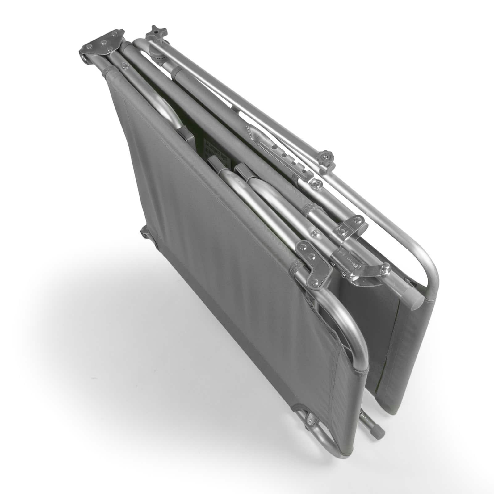 Comfortabel Aluminium Ligbed met Zonnendak 190x57 cm - Grijs