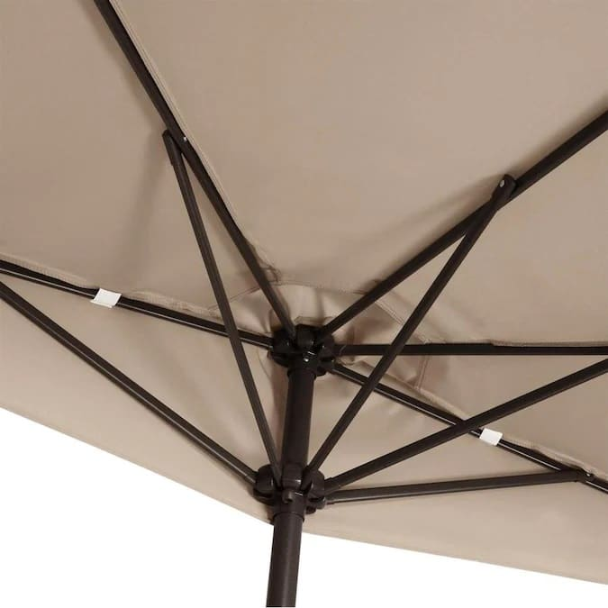 4gardenz® Muurparasol Halfrond 3m diameter - 300x154x235 cm - Taupe