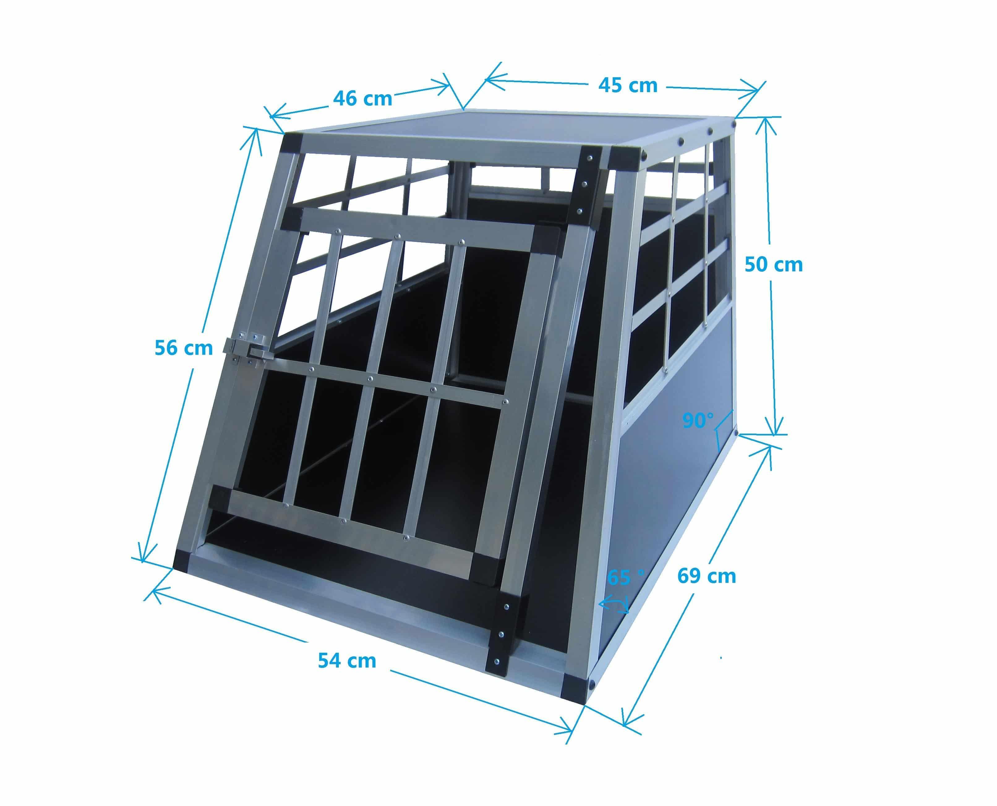 4animalz aluminium Hondenbench Small - 69 x 54 x 50 cm - 1 deur