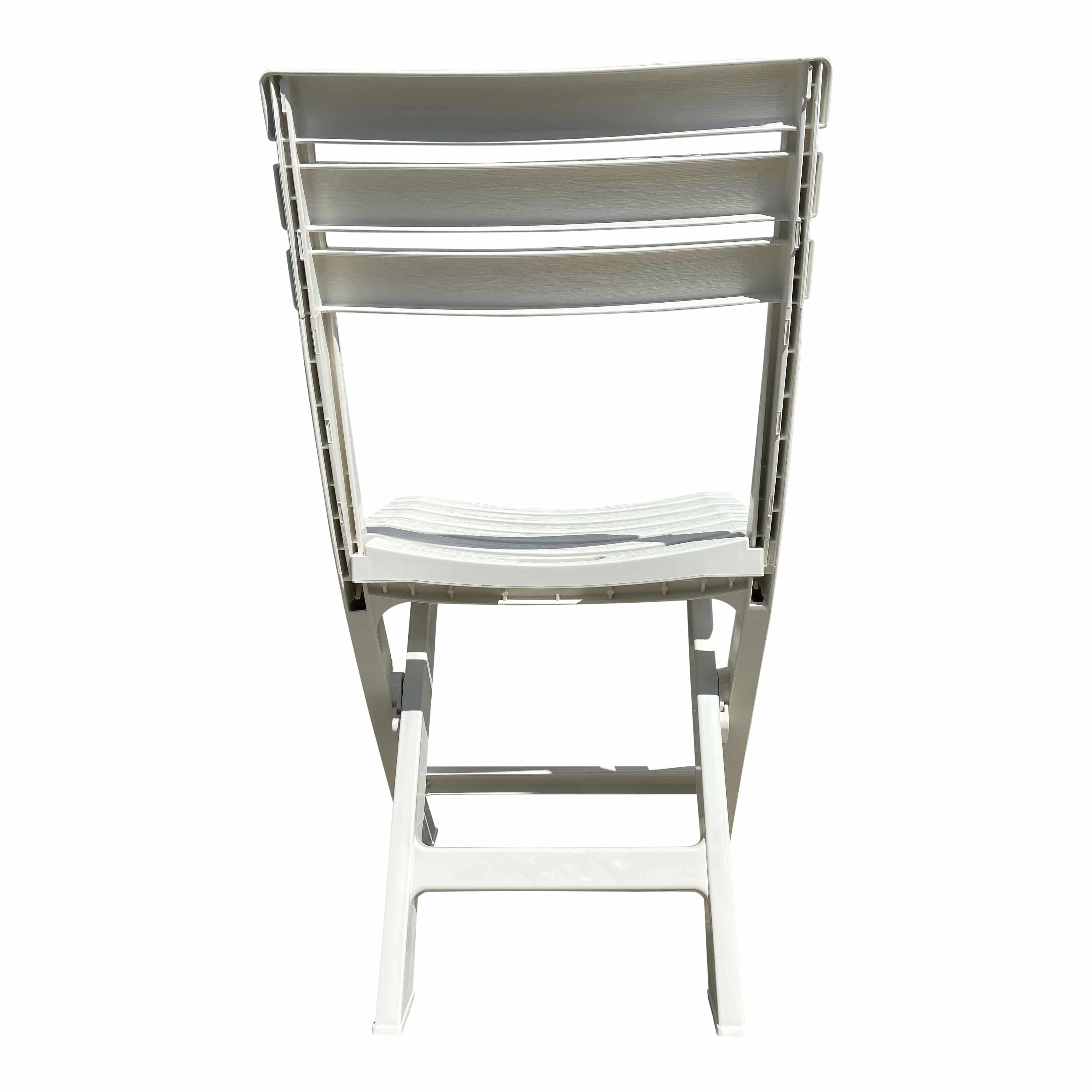 4Goodz set van 4x witte plastic klapstoelen - plaatsbesparend