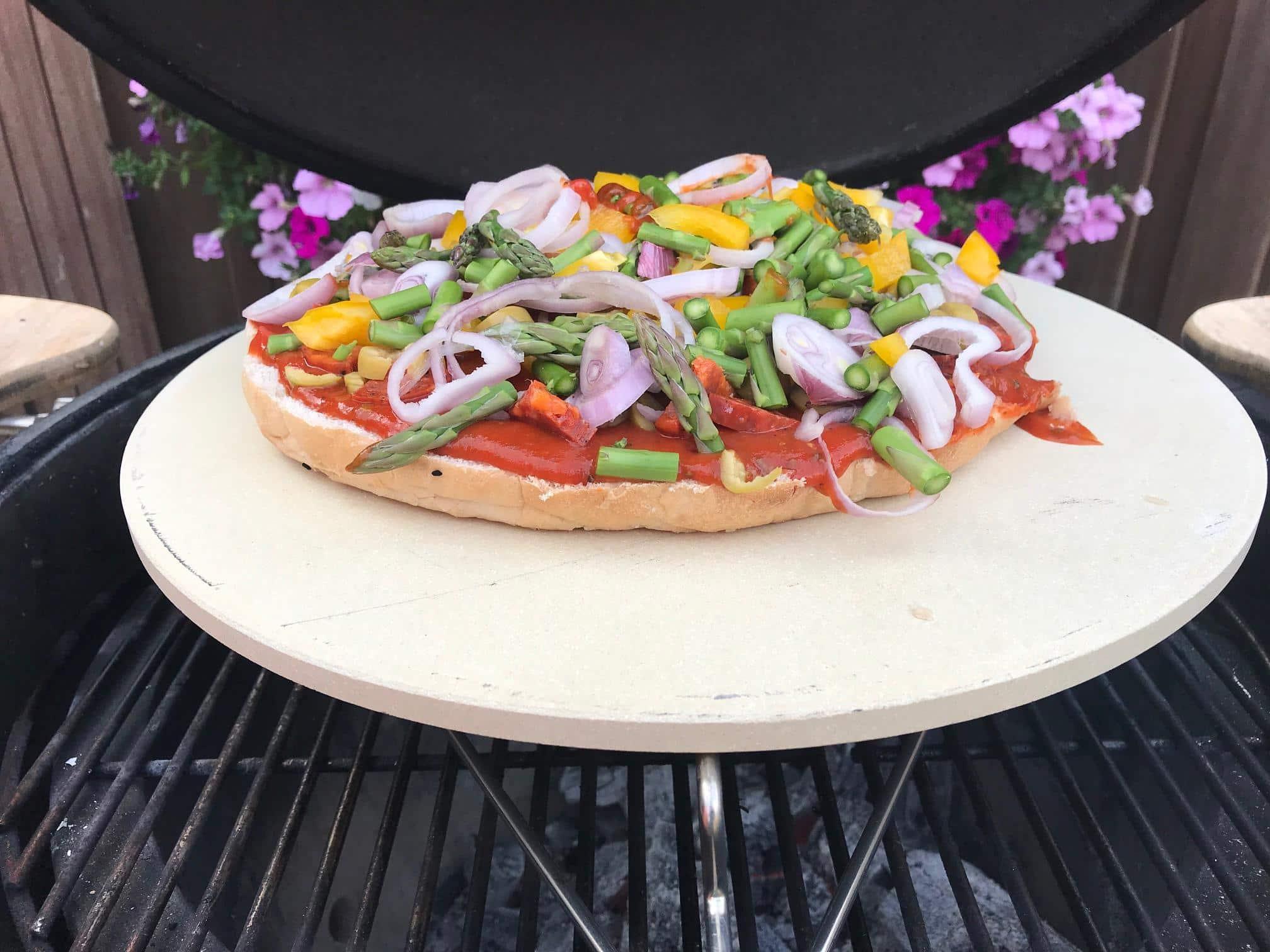 "4cookz® - Universele pizzasteen Kamado BBQ 16"" of groter - 28 cm"