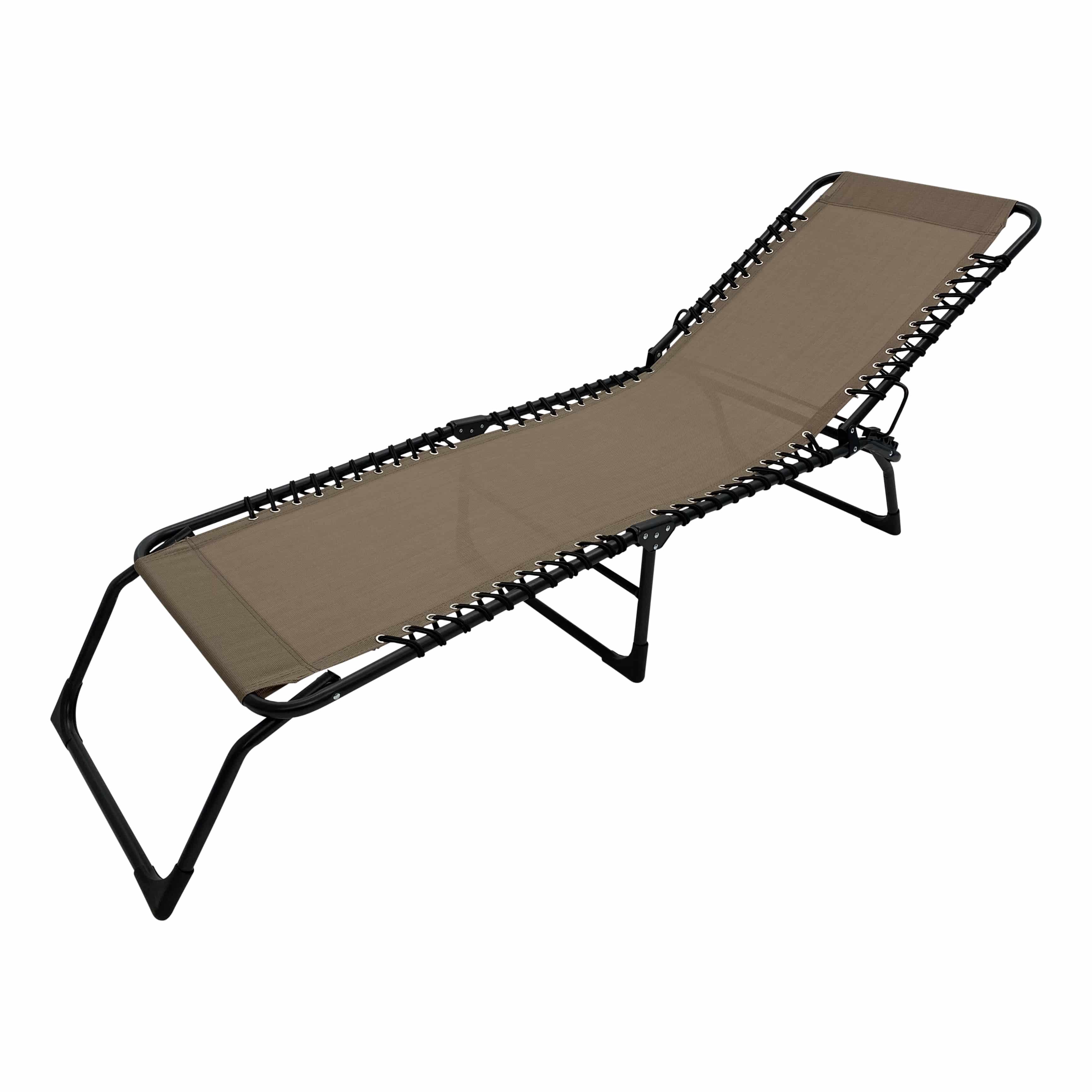 4gardenz® Comfortabel Ventilerend Opvouw Ligbed 190x57x28 cm - Taupe
