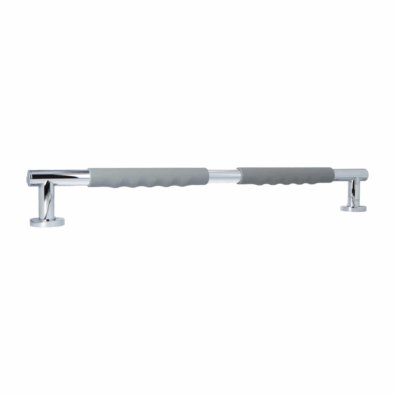 Luzzo® Fisso Soft Handgreep Badkamer/Toiletgreep 60 cm - Chroom/Grijs