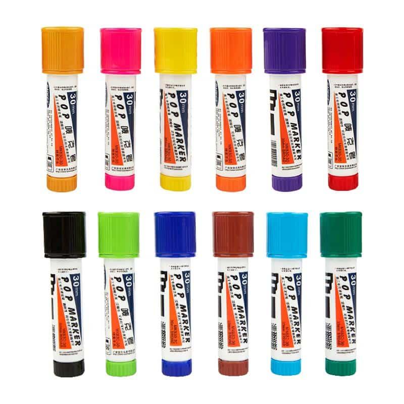 4artz® permanent markers kleuren 30 mm - brede stift op alcohol basis