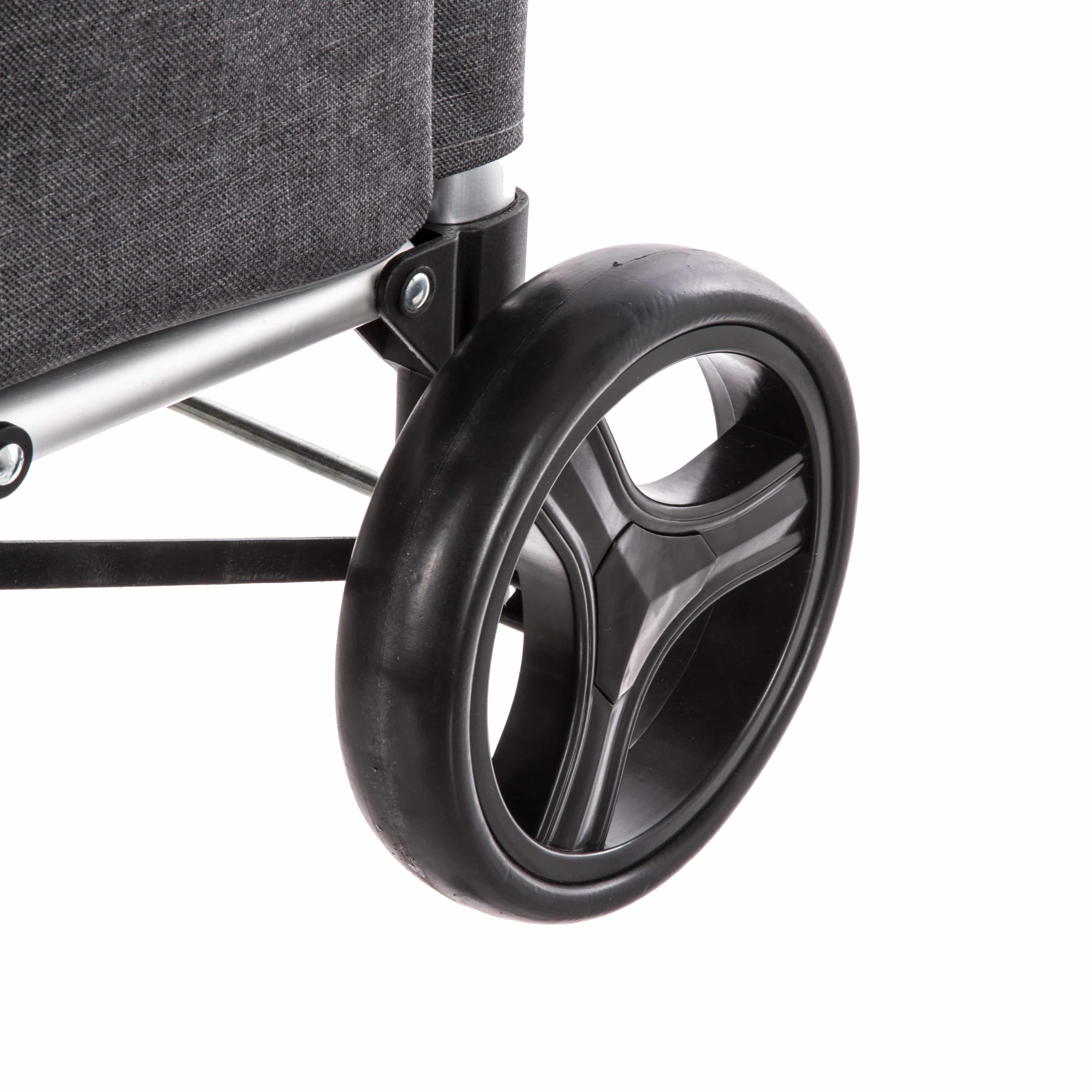 4Goodz Boodschappentrolley Lichtgewicht met grote wielen - 50 liter - Grijs