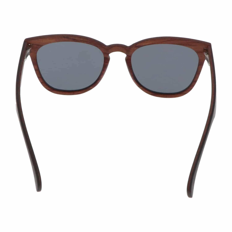 5one® Palermo - Ebony/Rosewood houten multilaags montuur - lens grijs
