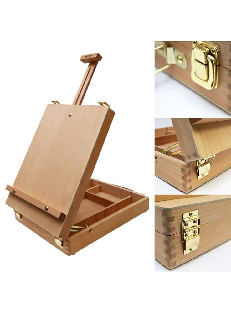 Mont Marte® houten tafelezel - opgevouwen 36 x 27 x 9,5 cm