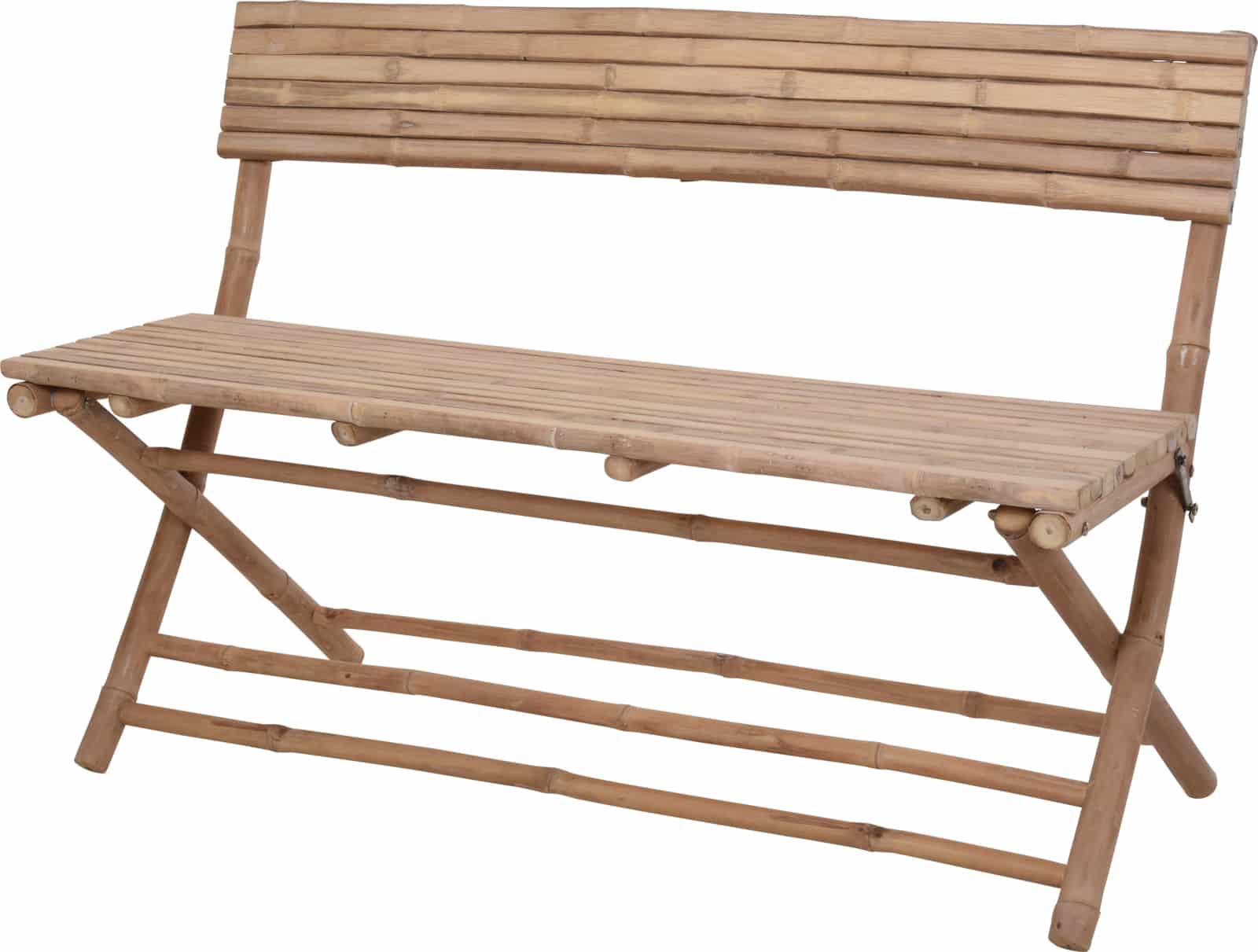 4goodz Tuinbank bamboe 120x80x45cm - Voor binnen en buiten gebruik