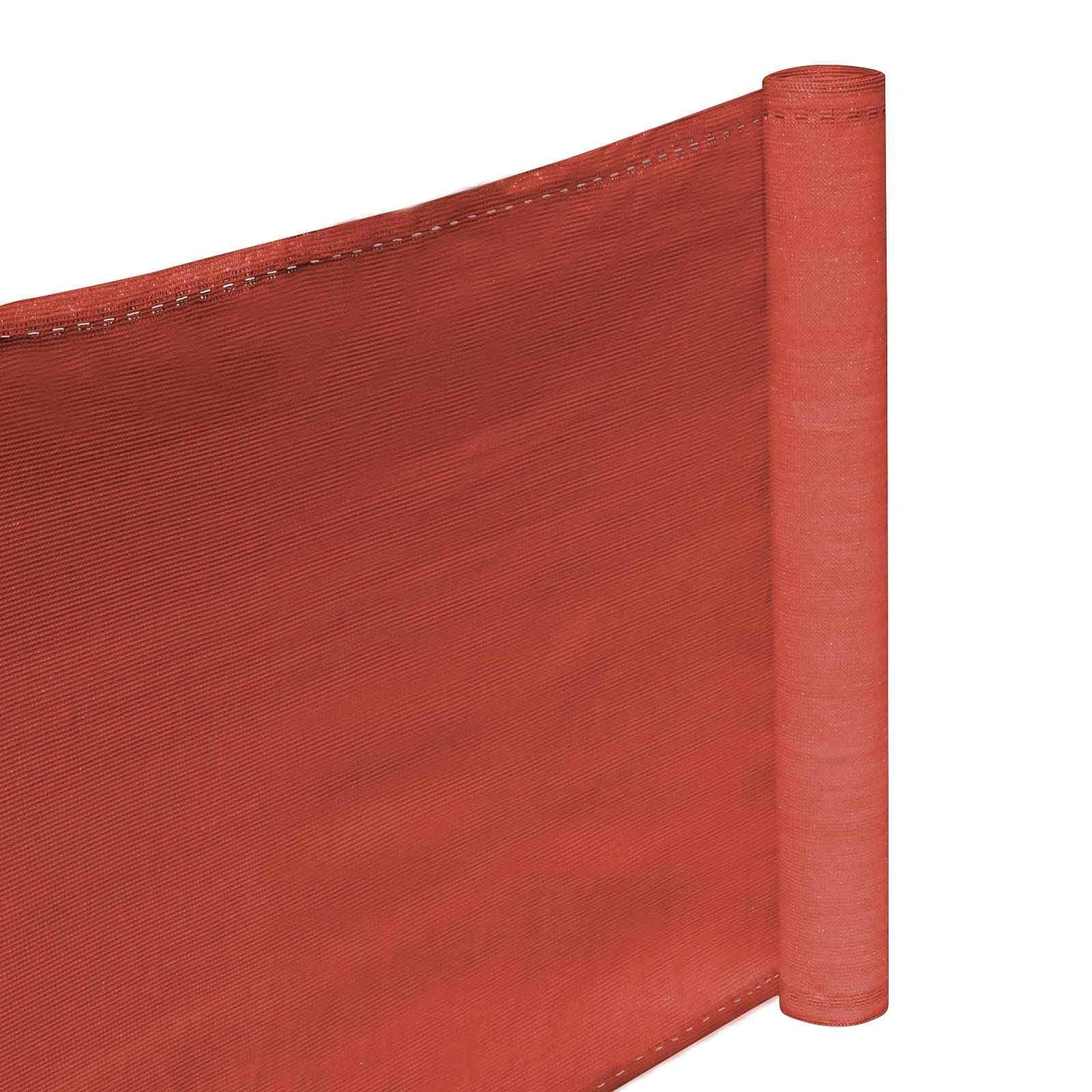 Hanse® Duurzaam Balkonscherm 500x90cm - Kleur Terracotta - Balkondoek