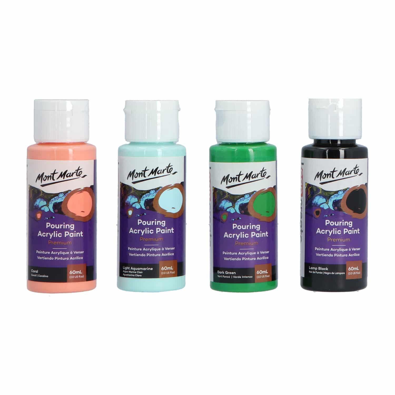 Mont Marte® Pouring Paint Rainforest - 4 potjes pouringverf a 60 ml