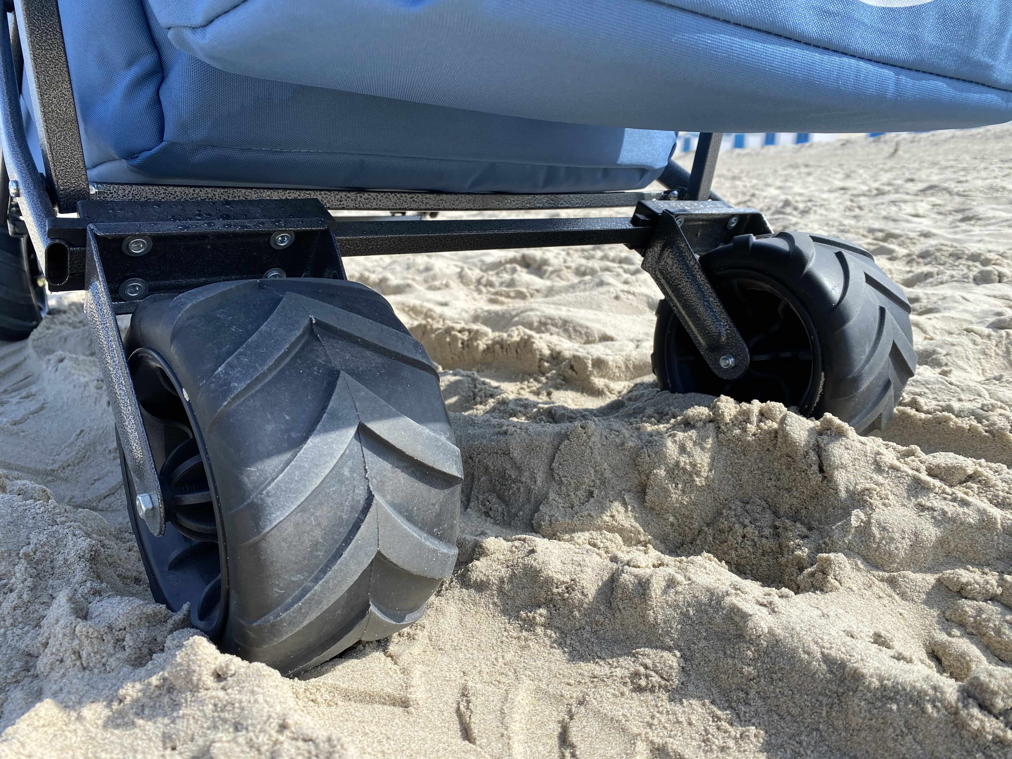 Maxplus Opvouwbare Bolderkar Beach met dak 138x56x110 cm - Grijs/Roze