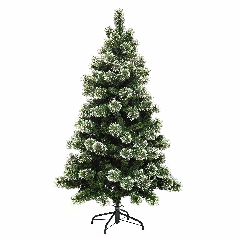 4goodz kunstkerstboom Gracious Frosted Pine 150 cm - Groen/Wit