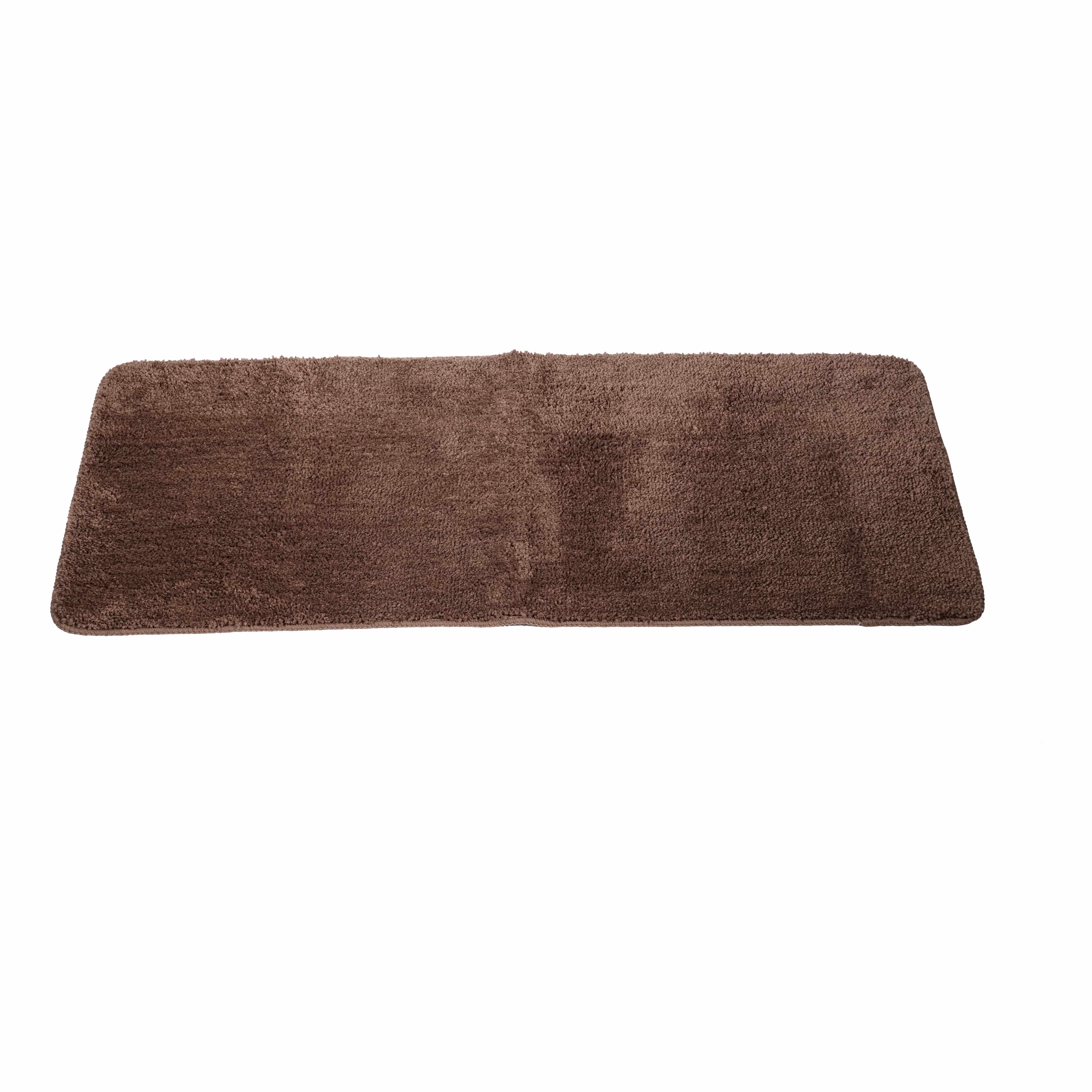 4goodz Anti-slip Douchemat voor dubbele wasbak 50x120 cm - Bruin