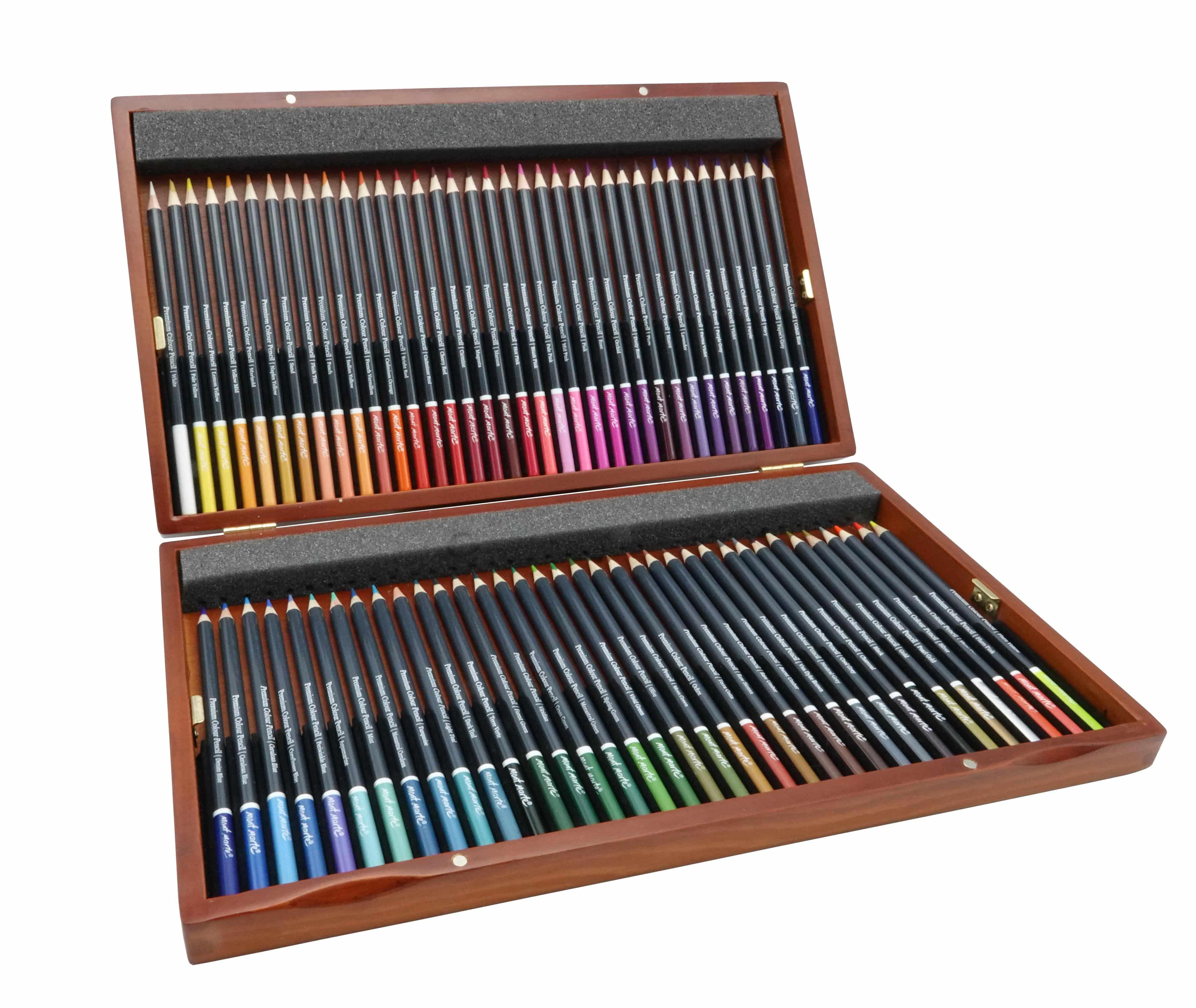 Mont Marte® premium potloden 72 stuks - in houten bewaarkist