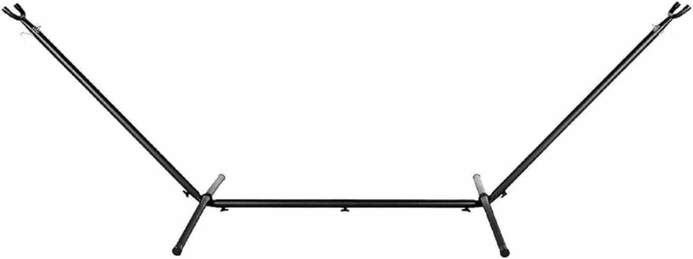 4gardenz 1 of 2-pers. hangmatstandaard Straight - 292x122x110cm Zwart