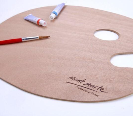 Mont Marte® Signature houten schilderspalet Large - 38x30 cm
