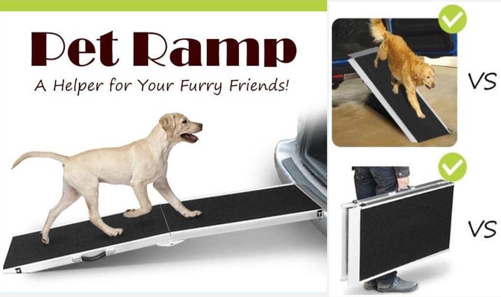 4animalz hondenloopplank opvouwbaar - aluminum - 122x38x5cm - medium